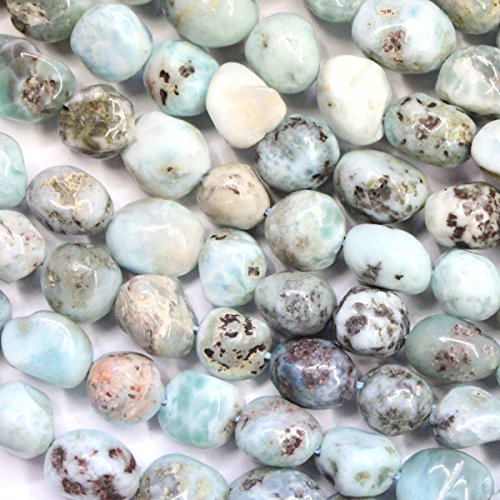 fashiontrenda Natural Dominican Larimar Free Size Nuggets 10mm Gemstone For DIY Jewelry Making Loose Beads ()
