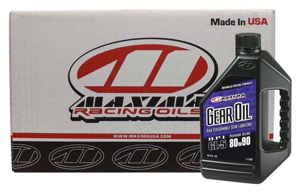 Maxima (CS43901-12PK) 80W-90 Premium Motorcycle Gear Oil - 1 Liter, (Case of 12)