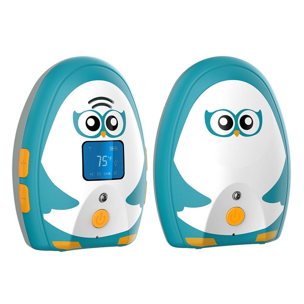 TimeFlys Audio Baby Monitor Mustang Vibration Two Way Talk LCD Display Temperature Monitoring and Warning Lullabies Night Light MC Devices (USA) Co. LTD