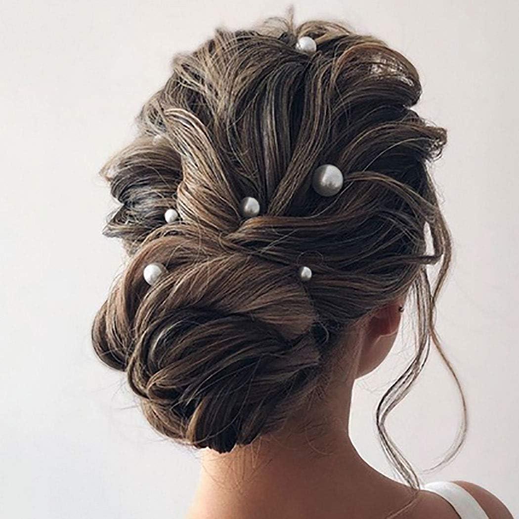Silver 20Pcs Wedding Bridal Pearl Flower Crystal Hair Pins Clips Bridesmaid PK