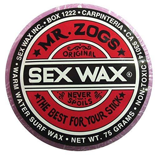 Mr. Zogs Original Sexwax - Warm Water Temperature Grape Scented (Light Purple Color)