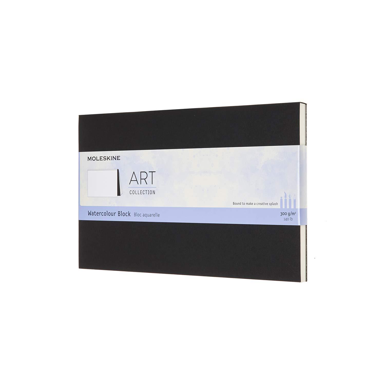 Couleur Noir Couverture Carton Moleskine Bloc Aquarelle Art Collection Album avec Papier pour Aquarelles 20 Pages Grand Format 13 x 21 cm