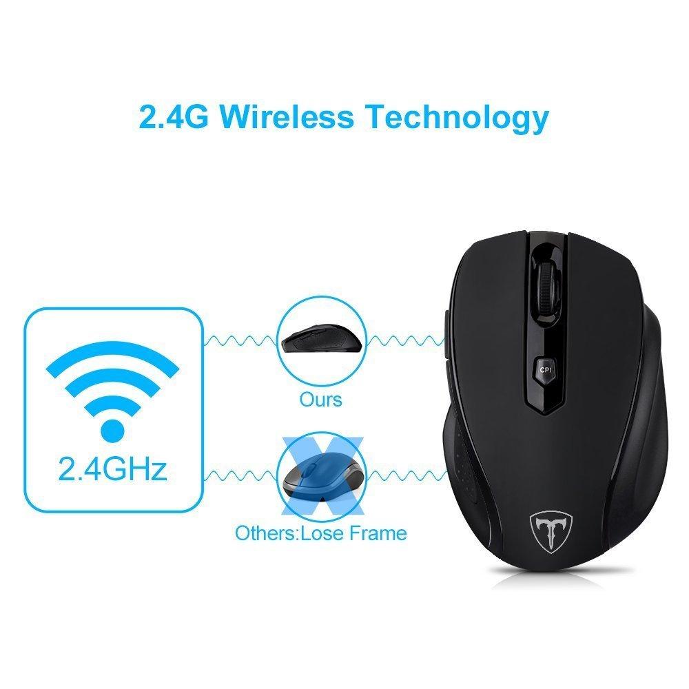 Amazon.com: VicTsing 2.4G Profesional Mouse / Ratón Inalámbrico Ergonómico con Bluetooth,6 Botones, Nano Receptor, 2400DPI y 5 Nivel Ajustable, para Windows ...