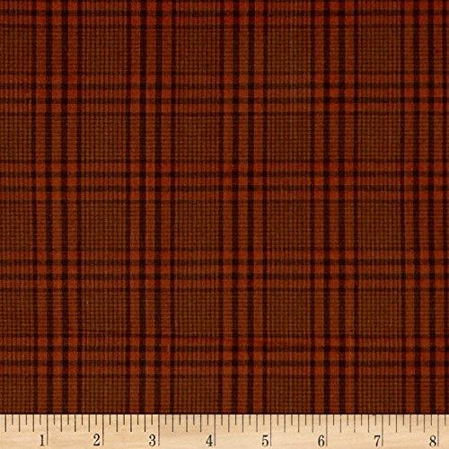 Fabric Plaid Glen (Henry Glass Farm Yarn Dye Monotone Glen Plaid Pumpkin/Brown Fabric by The Yard)
