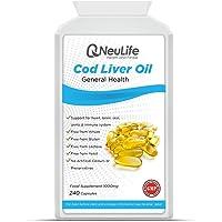 Olio di Fegato di Merluzzo 1000mg - 240 Capsule - Neulife Salute e Fitness