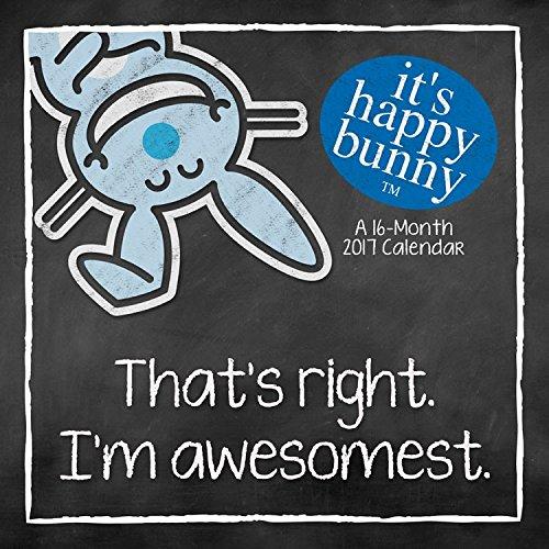 It's Happy Bunny Mini Calendar 2017 -- Deluxe It's Happy Bunny Small Wall Calendar (7x7)