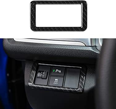 Thenice for 10th Gen Civic ABS Carbon Fiber Style Forward Collision Warning FCW Electronic Stability Control ESC Switches Button Decoration Trim for 2016 2017 2018 2019 Honda Civic