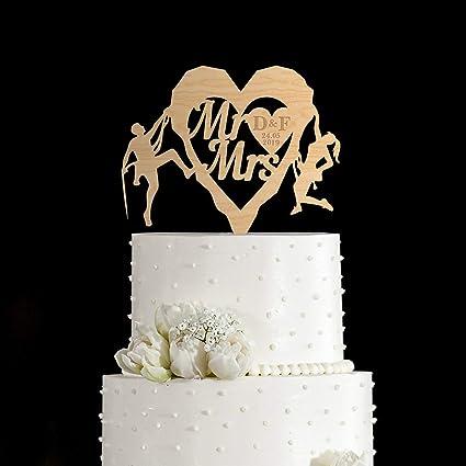 Decoración para tarta de boda, escalada en roca, escalada en ...