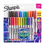 Electronics : Sharpie Permanent Markers, Ultra Fine Point, Cosmic Color, Limited Edition, 24 Count