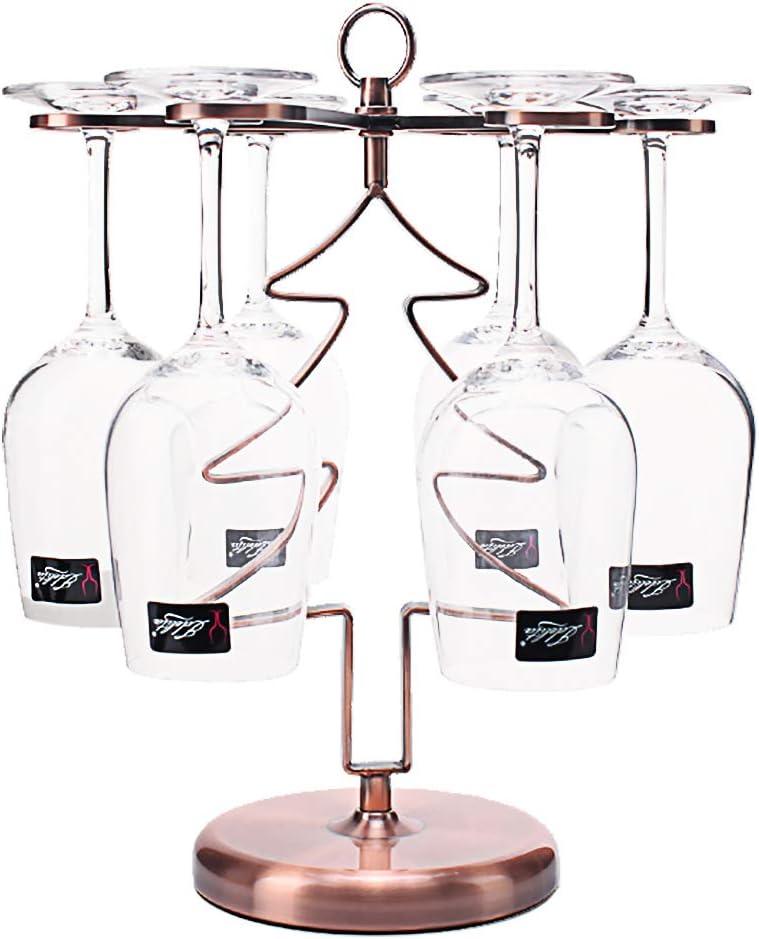 Soporte para copas de vino Soporte de vajilla cromado para copas de c/óctel TENINE Estantes del Stemware 6 Ganchos para secar Copas de Vino Acero inoxidable vino y champ/án 8 Patr/ón