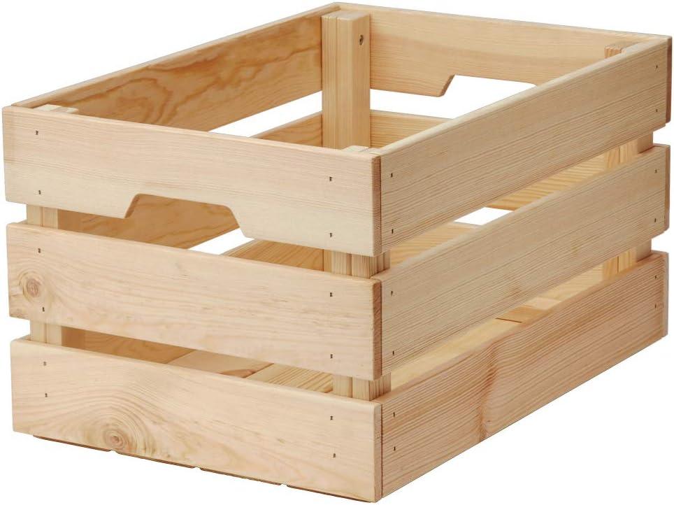 IKEA ASIA KNAGGLIG - Caja de madera de pino: Amazon.es: Hogar