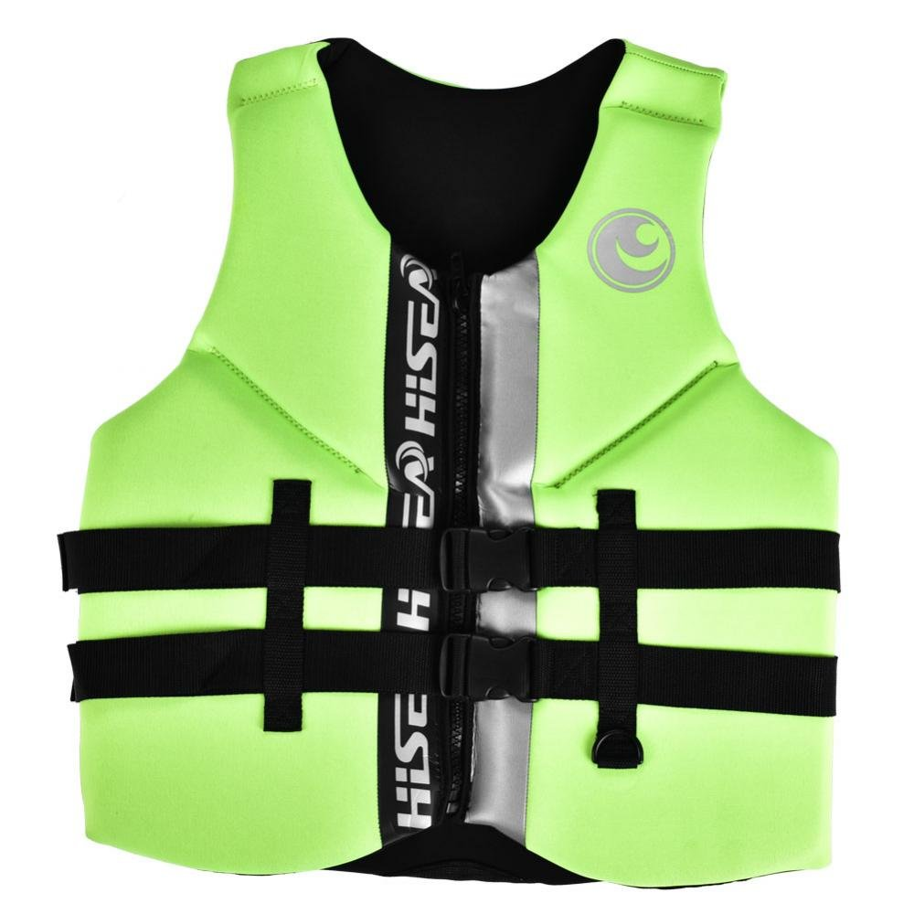 dilwe Lifesavingウエストコート軽量ネオプレングリーン高い可視性浮力Waistcoat Lifeベストボート釣り用 XX-Large  B07F3HM9SQ