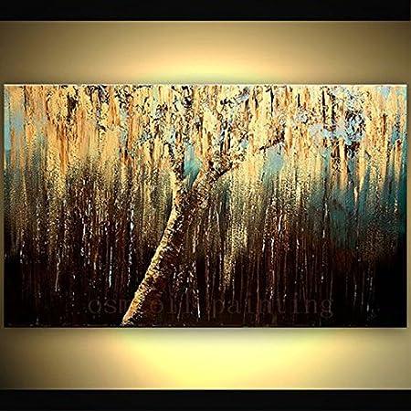 TTKX@ Handgemachte Große Wandmalerei Dark Bilder Hand Bemalt Abstrakten  Baum Ölgemälde Auf Leinwand Moderne Zuhause