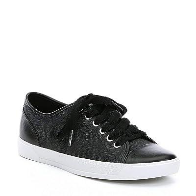 Michael Kors Womens MK City Sneakers, PVC, Black (9.5) | Fashion Sneakers