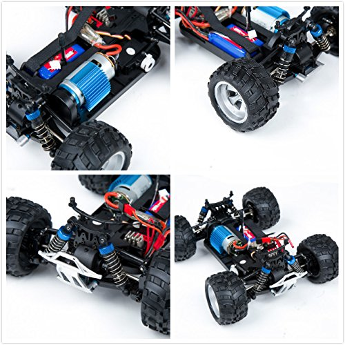 Remote Control Car, Distianert 1/18 Scale 4WD RC Car Electric Racing Car Off Road RC Monster Truck RTR Desert Buggy Vehicle 2.4Ghz 30MPH High Speed with 2 Rechargeable Batteries by Distianert (Image #6)