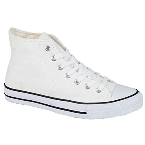 LD Outlet - Zapatillas para niña, color blanco, talla 37.5: Amazon.es: Zapatos y complementos