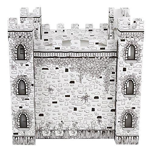 Fat Catalog ALT-ERU1004-SO Cardboard Coloring Kit, Castle, White ...