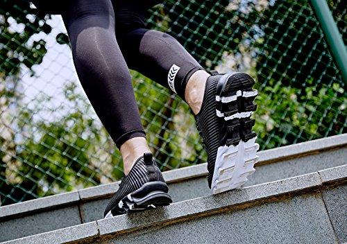 De Mens D'athlétisme Blanc Fitness Pied 6 Noir De De 9 Neoker Uk Orange Noir Formateurs Course Chaussures Gymnase À Sport wq0B0z
