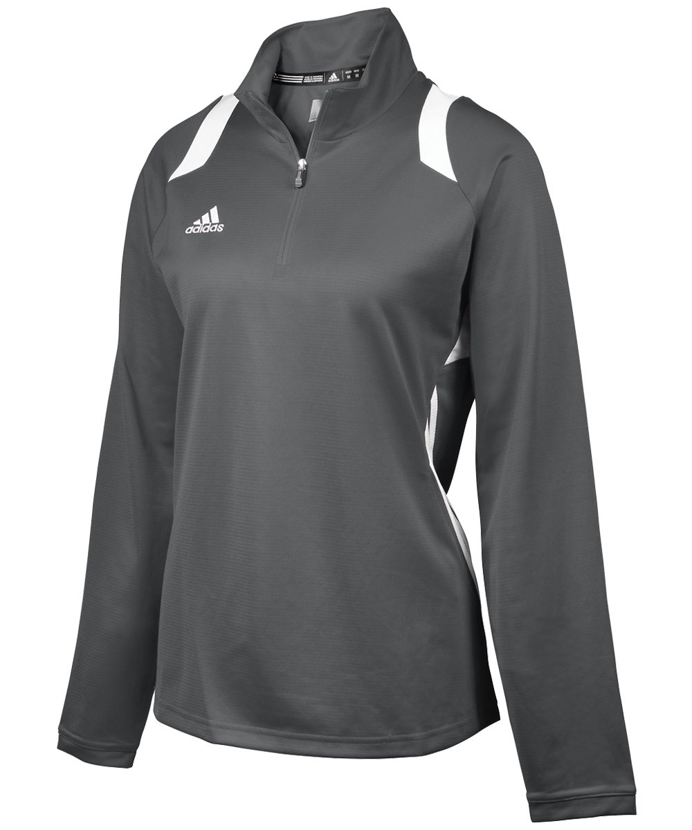 adidas Women's Game Day 1/4 Zip - Lead/White - Small by adidas