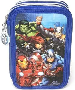 Los Vengadores Marvel Estuche plumier de Tres Pisos (AST1548): Amazon.es: Juguetes y juegos