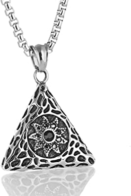 collier triangle homme