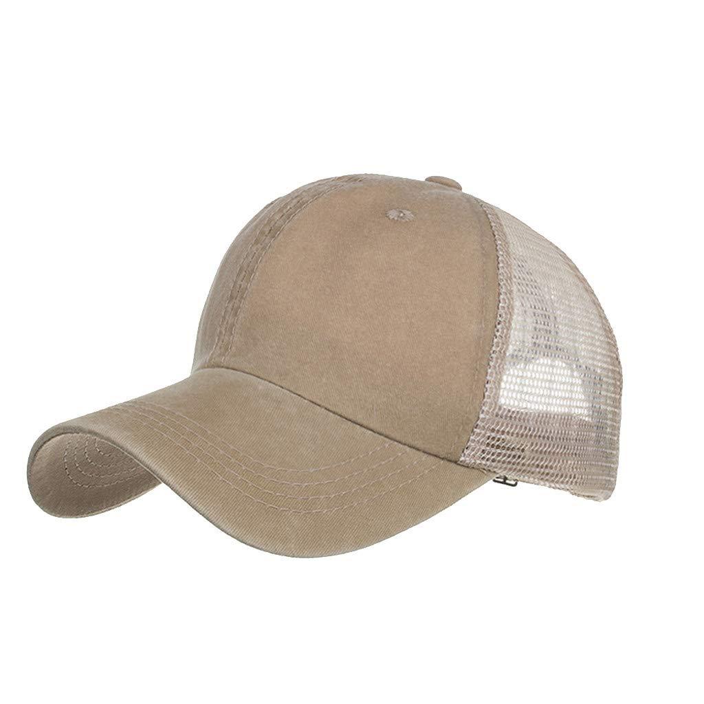 Outdoor Sport Hats Unisex Summer Baseball Cap Washed Cotton Hat Casual Cap Khaki