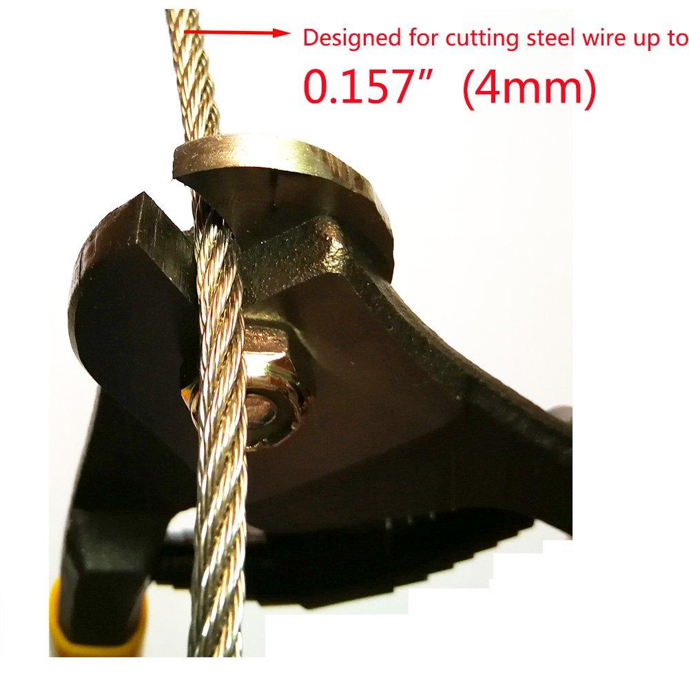 Tonxi Stainless Steel Wire Cutters Heavy Duty Wire Rope Cutter Utility Wire Cutters Aircraft Bicycle Cable Cutter,Up To 5/32'' (Wire Cutter) by Tonxi (Image #1)
