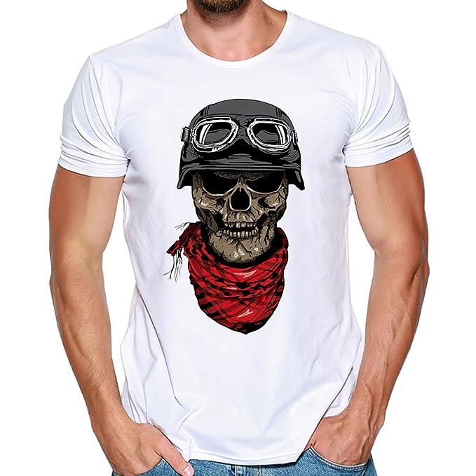 Kinlene Camiseta de Manga Corta para Hombre Camiseta de Manga Corta Blusa Tops: Amazon.es: Ropa y accesorios