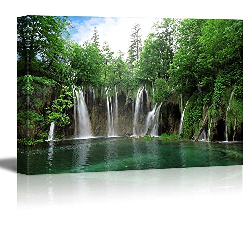 Canvas Prints Wall Art - Waterfall in Plitvice National Park