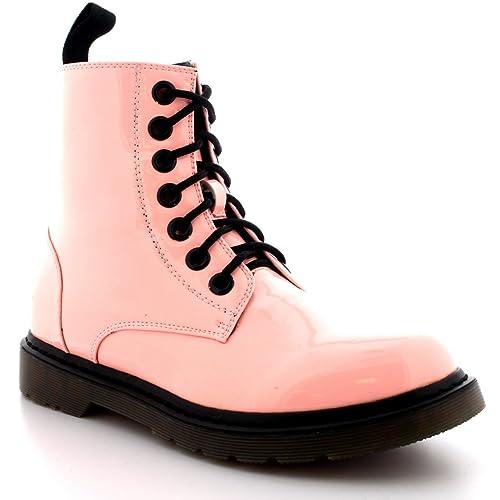 Mujer Militar Vendimia Ejército Godo Combate Zapatos Planos Rock Botas -  Rosa Patentar - 43 - DR0012  Amazon.es  Zapatos y complementos cdbfaca89088c