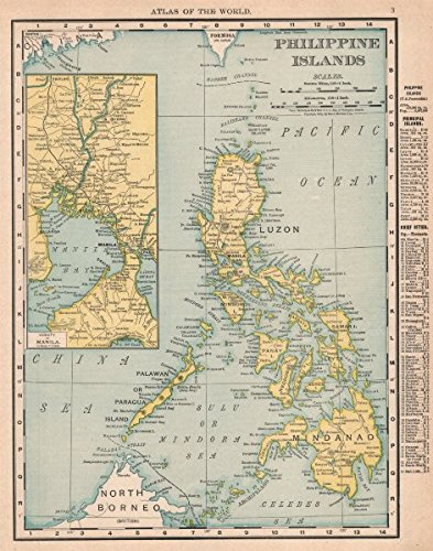 Amazon philippine islands manila philippines rand mcnally philippine islands manila philippines rand mcnally 1912 old map antique gumiabroncs Gallery
