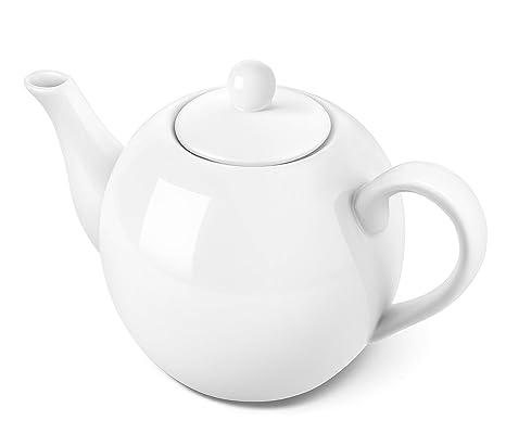 Amazon.com: DOWAN Tetera de porcelana, 40 onzas, taza de té ...