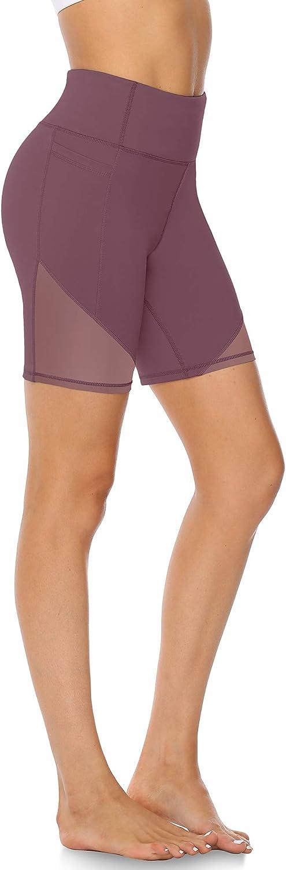Atmungsaktive Radlerhose Kurz Leggings f/ür Sport Alltag Sommer JOYSPELS Kurze Sporthose Damen mit Mesh