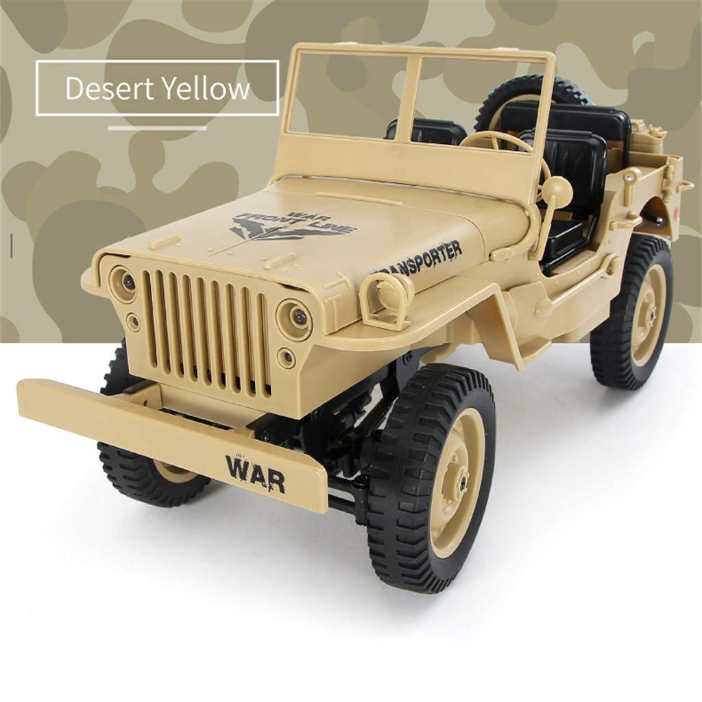 DDLmax 1/10 2.4G RC Open Car Military Jeep Off-road 4WD Rock Crawler RTR Toy