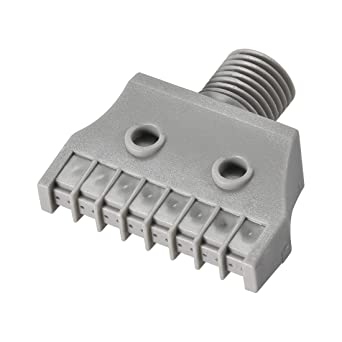 uxcell Flat Nozzle G1//4 Male Thread ABS Single Hole Air Blow Off Flat Jet Nozzle Gray