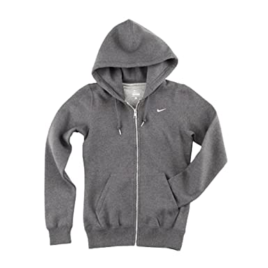 02b9fccfbcb8c Amazon.com: NIKE Womens Club Swoosh Full-Zip Fleece Hoodie 586640 ...