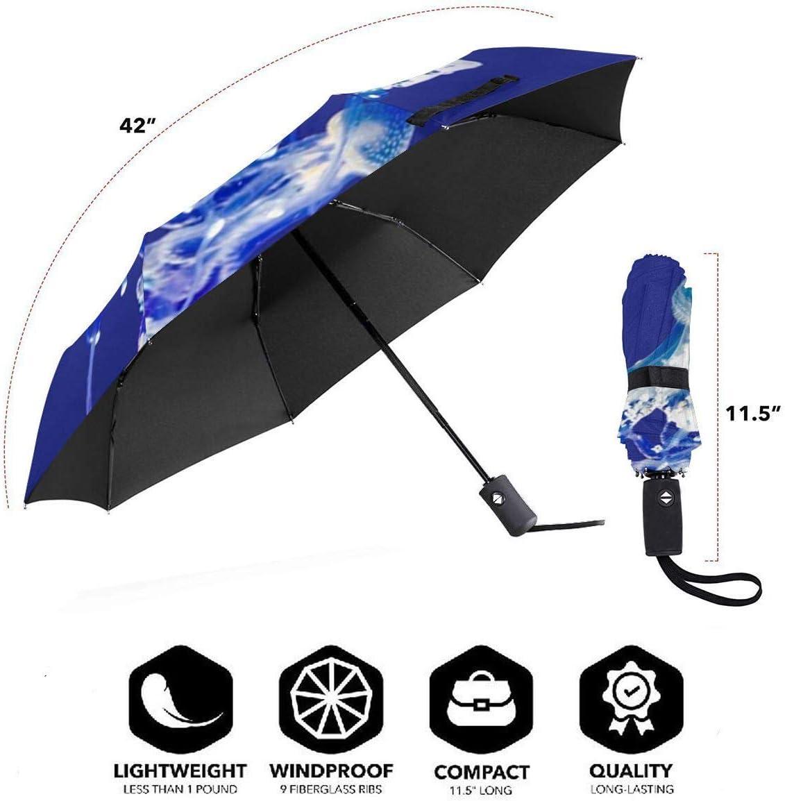 Bright Jellyfish Automatic Tri-Fold Umbrella Parasol Sun Umbrella Sunshade