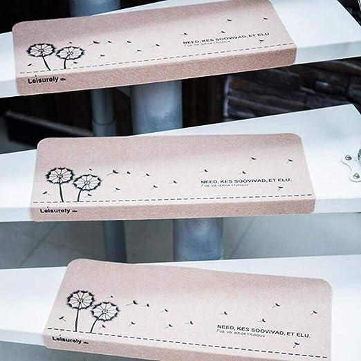 BANESE 100% Polipropileno Antideslizantes para Escaleras Autoadhesivo Alfombras De Escalera, Seguro Y Duradero 5/10/15 Paquetes Tamaño 55 * 25 * 4.2 cm,Rosado,15packs: Amazon.es: Hogar