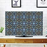 iPrint LCD TV dust Cover Strong Durability,Moroccan,Bohemian Eastern Arabic Pattern with Interlacing Lines