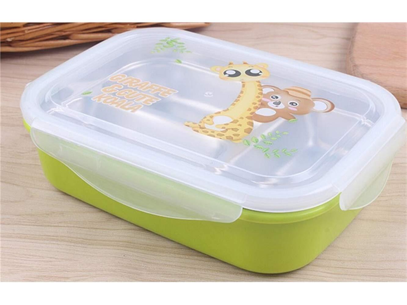 Rutschfest Baby Futternapf Lunchbox Anti-verbrühen Edelstahl Kinderschale Isolierung Schüssel für Kinder Studenten (grün) für Kinder