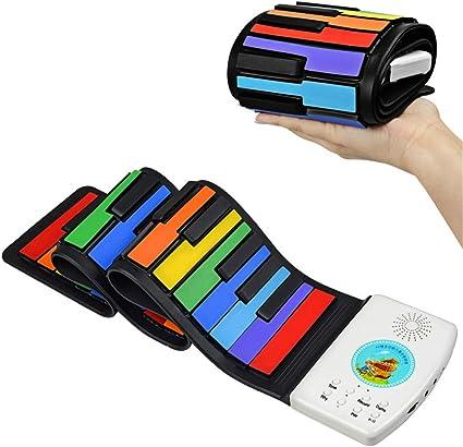 GFYWZ Piano de Silicona Enrollable, Portátil Plegable ...