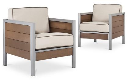Bryant 2-Piece Faux Wood Patio Club Chair - Threshold™ : Target