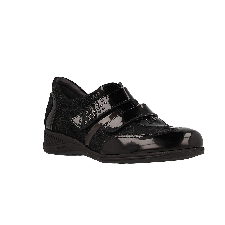 Zapato FLUCHOS 8890 Jaspe GLO Negro 38 EU Negro