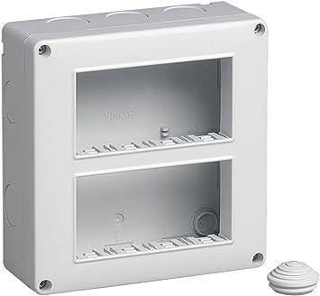 Vimar cajas de superficie - Caja ip40 8 módulo 4x2 vertical serie ...