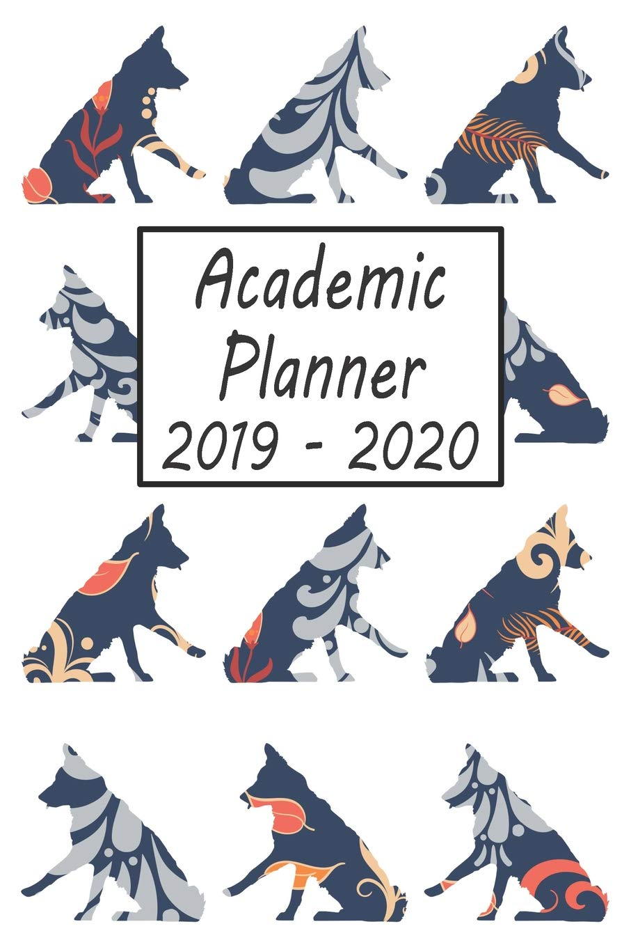 Academic Planner 2019 - 2020: Border Collie Dog Weekly and ...