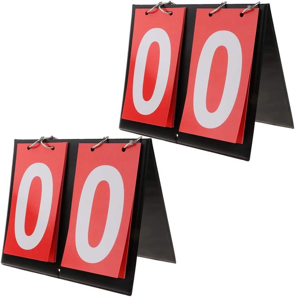 IPOTCH 2X Portátil Marcador de Puntos de Alta Visualidad Multifuncional para Baloncesto Fútbol Ping-Pang Bádminton