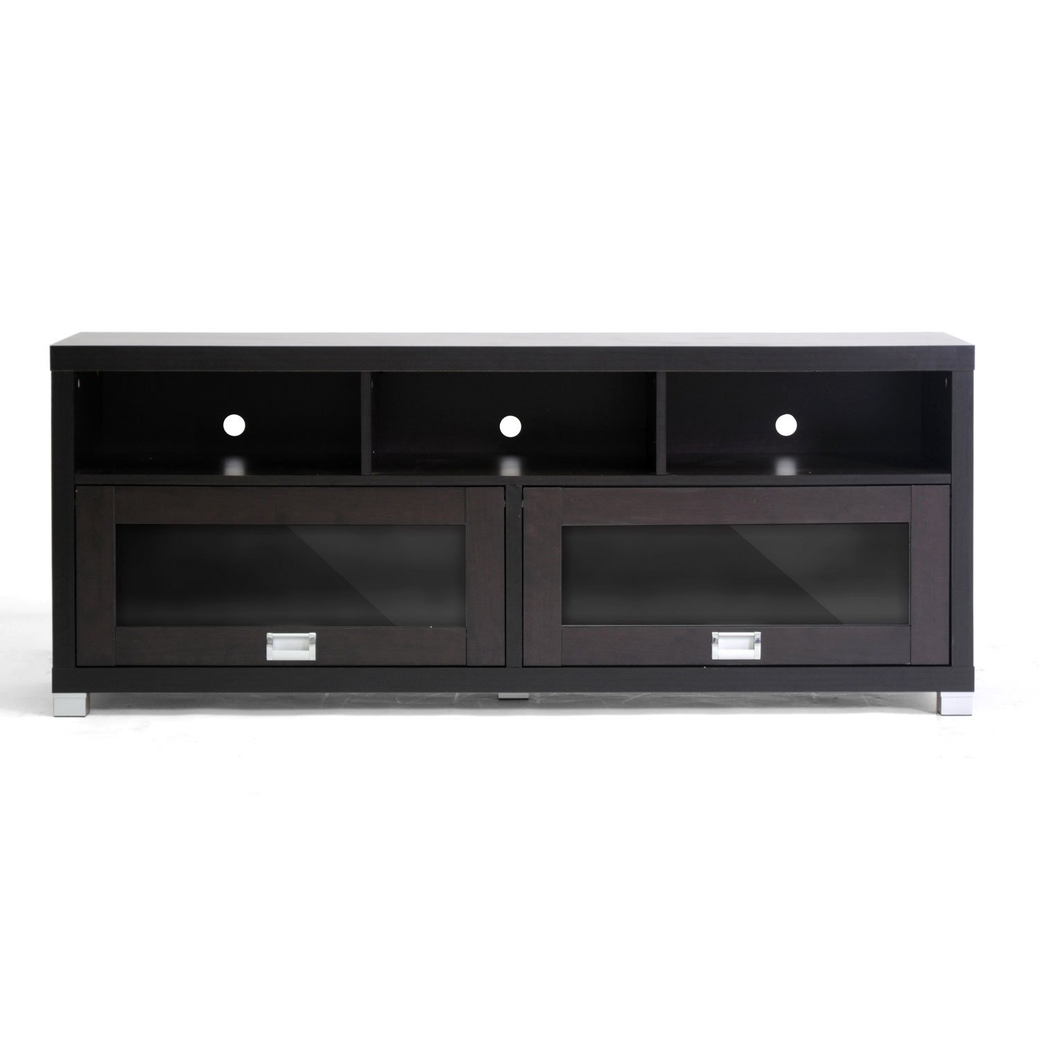 Amazon Baxton Studio Swindon Modern TV Stand With Glass Doors Kitchen Dining