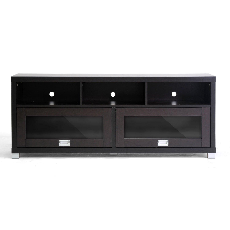 Amazon.com: Baxton Studio Swindon Modern TV Stand With Glass Doors: Kitchen  U0026 Dining