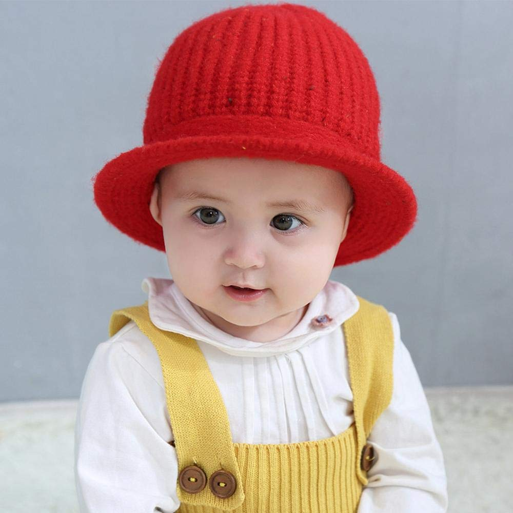 Myzixuan Knitted Cap Baby hat Winter Princess Baby hat Newborn Cotton Baby hat
