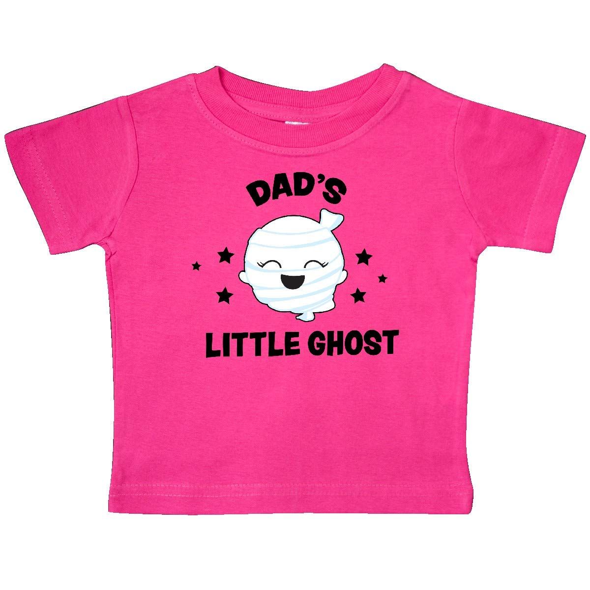 inktastic Cute Dads Little Ghost with Stars Baby T-Shirt